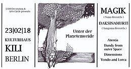Party Flyer Unter der Planetenweide //w Magik & Daksinamurti 23 Feb '18, 23:00