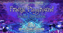 Party Flyer ¸.•*Fractal Playground 2nd Dimension // w Kleysky, Necmi uvm. *•.¸ 24 Feb '18, 22:00