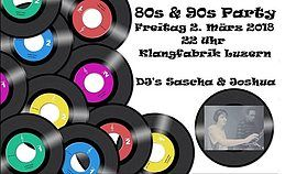 Party Flyer Back to the 80`s & 90`s 2 Mar '18, 22:00