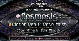 Party Flyer Mimesis CLUB - March w/ COSMOSIS + PIETER PAN & PETE MUSH!! 2 Mar '18, 23:30