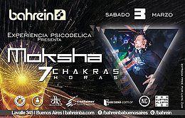 Party Flyer Free H/2am!Sab 3/3 Experiencia Psicodelica: Moksha 7 Chakras 7hs 3 Mar '18, 01:00