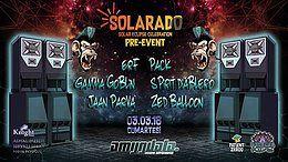 Party Flyer Solarado Solar Eclipse Celebration (PRE-EVENT) 3 Mar '18, 22:00
