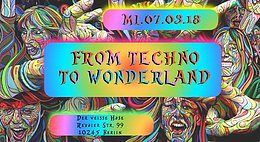Party Flyer ♫ From Techno to Wonderland ♫ 7 Mar '18, 23:00
