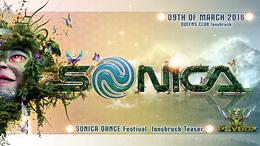 Party Flyer Sonica Festival Austria Teaser with Sonic Species / Ilai / Acid Mind *live 9 Mar '18, 22:00