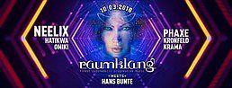 Party Flyer Raumklang meets Hans-Bunte with: Neelix, Phaxe, Omiki 10 Mar '18, 21:00