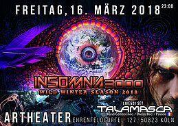 Party Flyer Insomnia 3000 / Wild Spring Season 2018 / TALAMASCA 16 Mar '18, 23:00