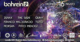 Party Flyer Viernes 16/3 Experiencia Psicodelica 5 @Bahrein 16 Mar '18, 23:59