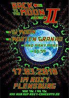 """Party Flyer Goa """"Back to the Moon Part 2"""" Si Moon, Morten Granau, and more 17 Mar '18, 23:55"""