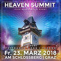 Party Flyer Heaven Summit-Das große In & Outdoor Frühlingsrave am Schloßberg 23 Mar '18, 16:00