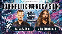 Party Flyer Gonautika meets ProgVision /w. Upgrade uvm. 24 Mar '18, 23:00