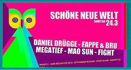 Party Flyer Schöne neue Welt 24 Mar '18, 23:00