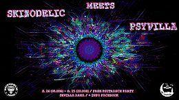 Party Flyer SKIZODELIC MEETS PSYVILLA 24 Mar '18, 10:00