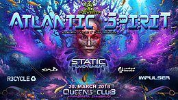 Party Flyer Psybox pres. *** Atlantic Spirit with Static Movement / Impulser / R3cycle *live 30 Mar '18, 22:00