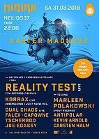 Party Flyer Nibirii Easter w Reality Test, Marleen Polakowski (Goa x Techno) 31 Mar '18, 15:00