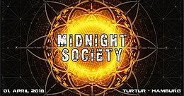 Party Flyer Midnight Society (Psychedelic Trance Event) 1 Apr '18, 23:00