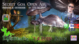 Party Flyer Elfentanz Secret Goa Open Air in the Woods / Leads Live 7 Apr '18, 22:00