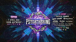 Party Flyer Psygathering 2018 : 3 rooms ( part I of 15 years B2B !!) 7 Apr '18, 23:00