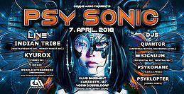 Party Flyer ·•••●●❂ PsySonic °Cirque De Nuit° ❂●●•••· 7 Apr '18, 22:00