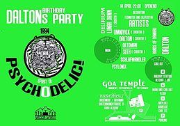 Party Flyer Dalton's bday bash /Spirit of Psychodelic/ 14 Apr '18, 22:00