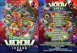 Party Flyer VooV Indoor Berlin mit Ajja, Oxidaksi uvm. 14 Apr '18, 23:00