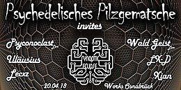 Party Flyer Psychedelisches Pilzgematsche invites Synaptic Eclipse 20 Apr '18, 22:00
