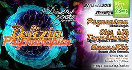 Party Flyer Dissabtes Psycho - Guest: Djane Psynonima & friends 21 Apr '18, 23:30