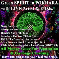 Party Flyer Green Spirit in Pokhara 21 Apr '18, 01:30