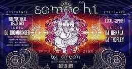 Party Flyer samadhi - dj doombringer - soma ritual records (india) 21 Apr '18, 22:00