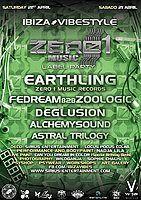 Party Flyer Zero 1 music Label Party ibiza Vibestyle 21 Apr '18, 20:00