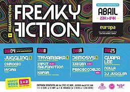 Party Flyer FREAKY FICTION 25 Apr '18, 23:00