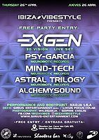 Party Flyer Free Party ibiza Vibestyle EXGEN Live Set 26 Apr '18, 22:00