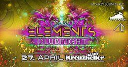 Party Flyer ELEMENTS CLUBNIGHT CLUB KREUZKELLER 27 Apr '18, 22:00