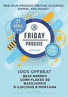 "Party Flyer Friday Proggie ""100% Offbeat"" 27 Apr '18, 23:00"