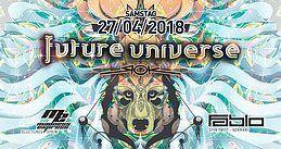 Party Flyer Future Universe w/ Fabio Fusco, Madness Express 27 Apr '18, 22:00