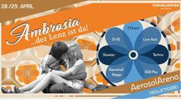 Party Flyer Ambrosia der Lenz ist da! Freiluftfeierei vor'm 1.Mai 28 Apr '18, 22:00