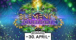 Party Flyer ELEMENTS CLUBNIGHT - CLUB SPIELPLATZ 30 Apr '18, 22:00