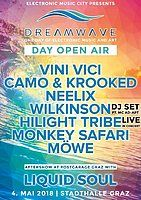 Party Flyer DREAM WAVE Festival Day 2018|Vini Vici, Neelix, Hilight Tribe, Camo&Krooked uvm 4 May '18, 12:00
