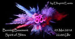 Party Flyer Burning Basement - Chrizzlix/Miss Nansix/Mr. Gunomane/Das Bö B2B Monsieur Metaf 5 May '18, 22:00