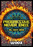 Party Flyer Progressive Never Ends - Nok - Symphonix - Benzoo - amm 5 May '18, 22:00