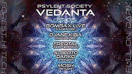 Party Flyer Psylent Society: Vedanta 2.0 5 May '18, 23:00