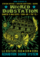 Party Flyer Wicked Dubstation #2 5 May '18, 22:00