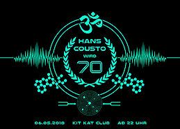 Party Flyer Hans Cousto wird 70 6 May '18, 22:00