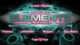 Party Flyer Elements - Protonica, Adibuddha, Mantara, Rene Mothes 9 May '18, 23:30