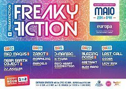 Party Flyer FREAKY FICTION 9 May '18, 23:00