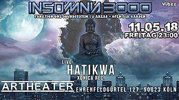 Party Flyer Insomnia 3000 / Hatikwa Live uvm 11 May '18, 23:00
