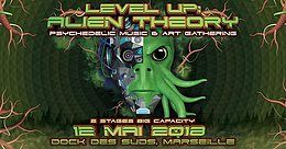 Party Flyer LEVEL UP : Alien Theory 2018 w/ Giuseppe, Bombax, Chris Rich 12 May '18, 22:30