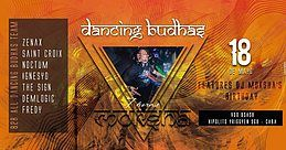 Party Flyer Dancing Budhas features Dj Moksha's Birthday 18 May '18, 23:30