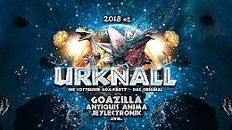 Party Flyer Urknall 2018 #2: Die Cottbuser Goa-Party – das Original! 18 May '18, 23:00