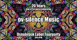 """Party Flyer 20 Years """"ov-silence Music"""" Tourparty - Osnabrück 19 May '18, 23:00"""