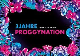 Party Flyer 3 Jahre Proggynation Festival 20 May '18, 23:00